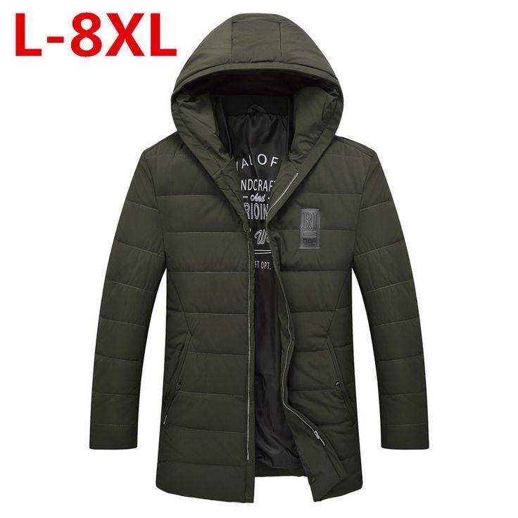 New big size 8XL Clothing Winter Jacket Men Casual Parka Jacket Thick Men Hooded Warm Men's Coats and Jackets Fashion overcoats