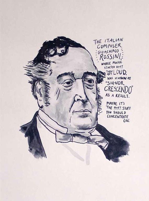 Gioachino Rossini poster.