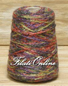 WO508 Filato catenella fantasia misto merino grigio viola rosso giallo