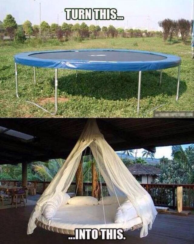 Trampoline swing bed!!!