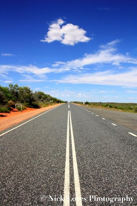 Nick Loves Photography - Road To Uluru, Australia #Road #Uluru #Desert #Clouds #Australia
