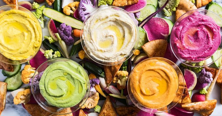 Taste the rainbow with these five recipes for hummus, from bright-pink beet to springy pea and chervil.