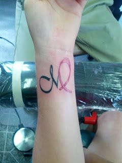Virgo tattoo with breast cancer ribbon...I would change to blue for colon cancer #survivor