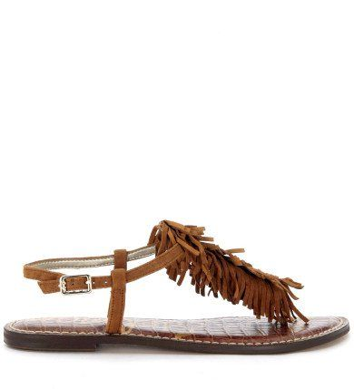 SAM EDELMAN Sandalo Sam Edelman Gela In Camoscio Marrone Cuoio. #samedelman #shoes #sandals