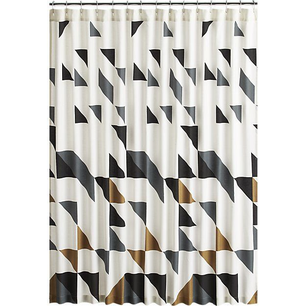 Triangle Shower Curtain Cb2 Cheap Shower Curtains White