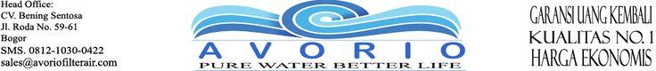 Avorio Filter Air | Raja Alat Filter Penjernih Air No. 1  Avorio filter air adalah solusi terbaik untuk masalah air. Penjerbih air Avorio adalah penjernih air modern dwngan kualitas terbaik. Bergaansi uang kembali dan memiliki after sales service terbaik. www.avoriofilterair.com