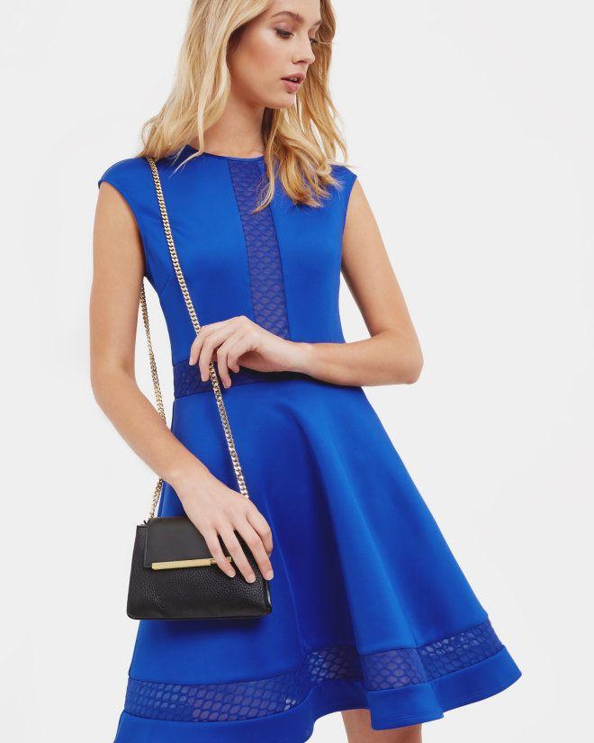 Ted Baker GLORRY Mesh Detail Full Dress - £149