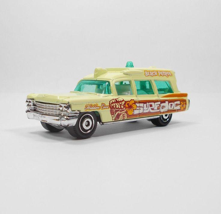 Matchbox 1963 Cadillac Ambulance Die-cast Model Toy Car 1:81 Surf Doc