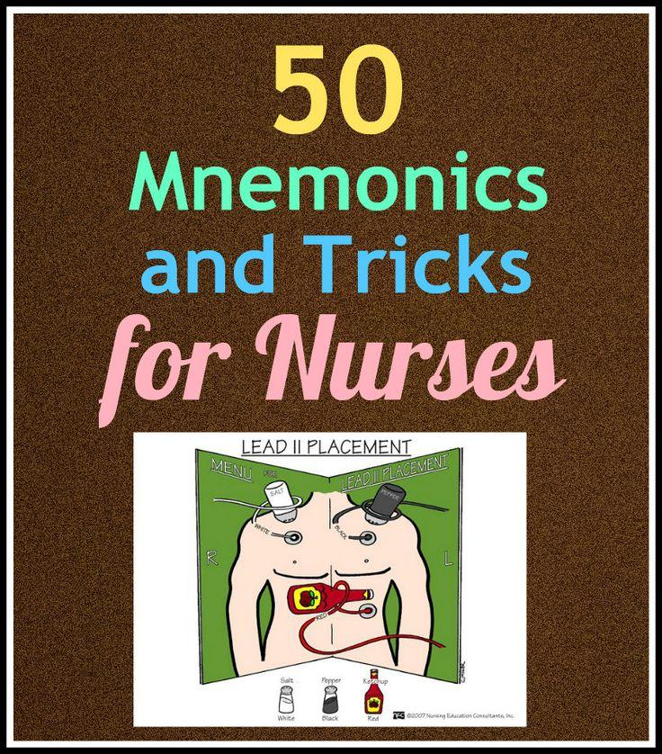 Here are 50 #nursing mnemonics and tricks every #nurse should know, via Nurse Buff
