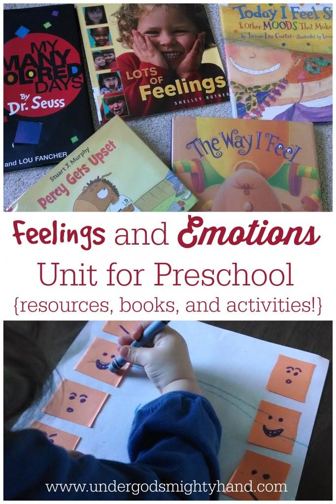 Feelings and Emotions Unit for Preschool - including activities, book recommendations, and resources! {undergodsmightyhand.com}