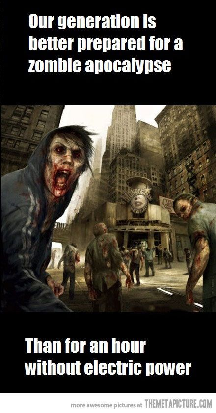 Oops. #Zombie #Apocalypse #Preparation