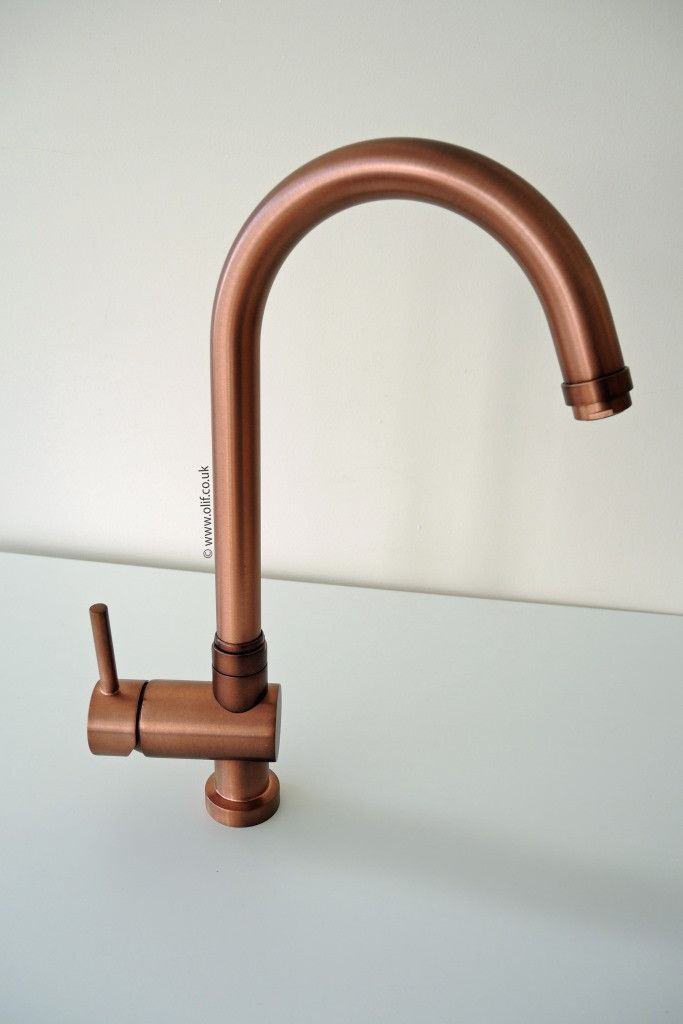 Brushed Copper kitchen mixer tap - Idrotech Copper £320
