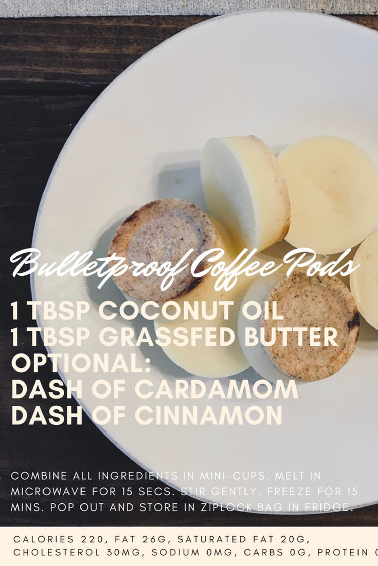 Bulletproof Coffee Pod Recipe  Easy to make and a huge time saver!! #BulletproofDiet,