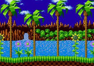 Sonic style landscape