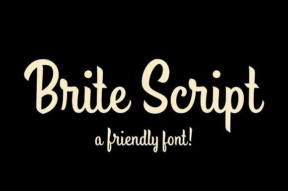 Brite Script by Drew Melton on @creativemarket