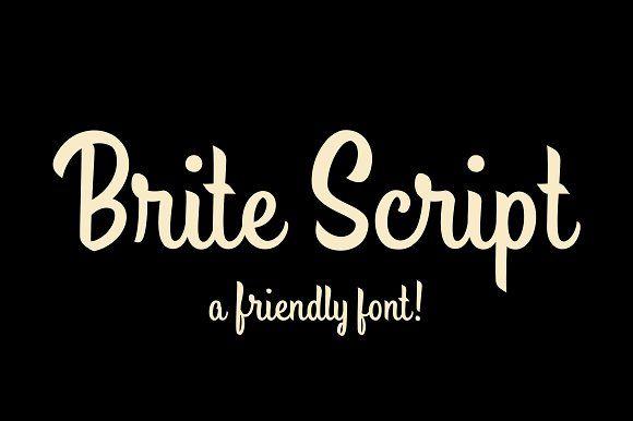 Brite Script by Drew Melton on @creativemarket