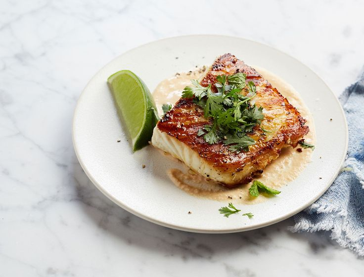 Pan seared halibut with peanut drizzle and herbs recipe for Pan seared fish recipes