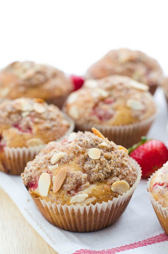 jahodové muffiny