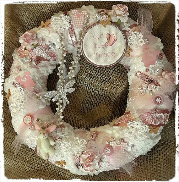 Check out this item in my Etsy shop https://www.etsy.com/uk/listing/494836613/baby-birth-announcement-wreath-baby-girl