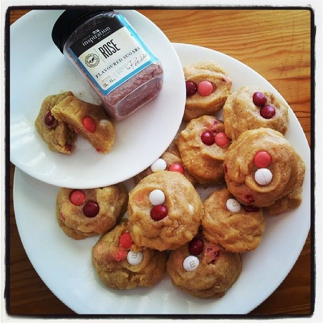 Your Inspiration at home Rose and M&M Cookies