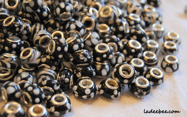 100 Euro Beads Black and White Collection . Starting at $1 on Tophatter.com!