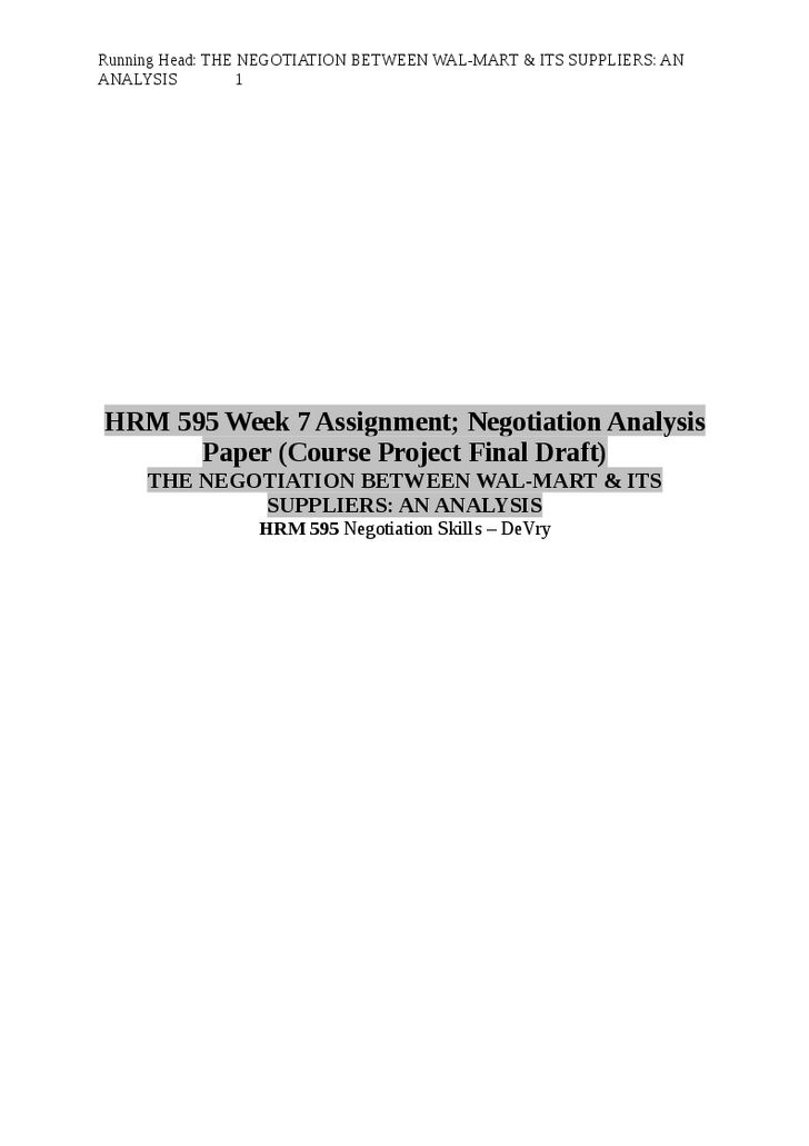 hrm 595 week 5 Hrm 595 week 1 individual assignment proposal plan, part i imagine you are the vice president of hr for a real or fictitious organization of more than 500 employees.