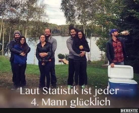 Laut Statistik ist jeder 4. Mann glücklich..