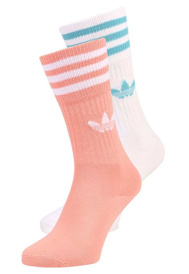 adidas Originals. SOLID CREW 2 PACK - Socks - trace pink/white/vapor