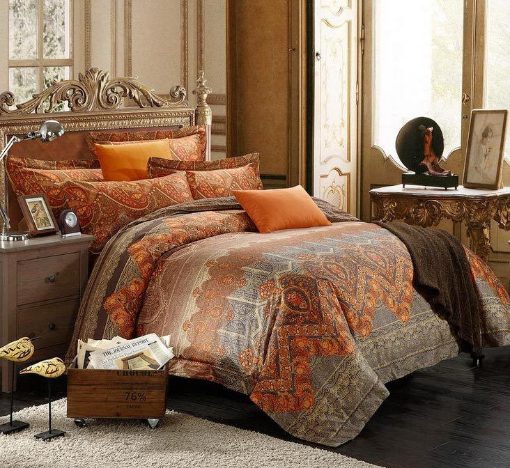 Burnt Orange Comforter Sets amazing brown and burnt orange bedding