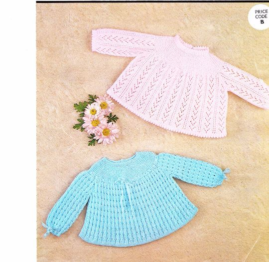 Baby Sweater Instant Download Knitting Pattern PDF Pattern Newborn Pattern Baby Knit Pattern Baby Gift Baby Gifts to Make Sirdar 3275 by PatternsFromOz on Etsy