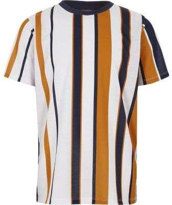 359ec337 River Island Boys white vertical stripe T-shirt | Fashion style | T ...