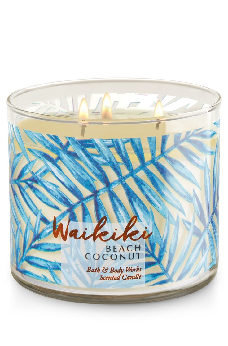 Waikiki Beach Coconut 3-Wick Candle - Home Fragrance 1037181 - Bath & Body Works