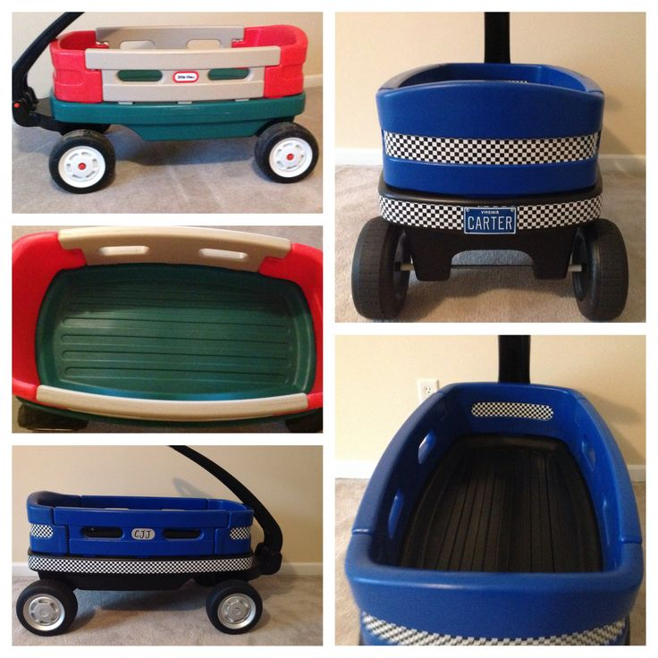 Before  After Pics of My Little Tikes Wagon Makeover.