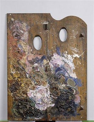 Artists' Palettes [above Gauguin's] @ http://accidentalmysteries.blogspot.com/2010/06/rare-artists-palettes.html