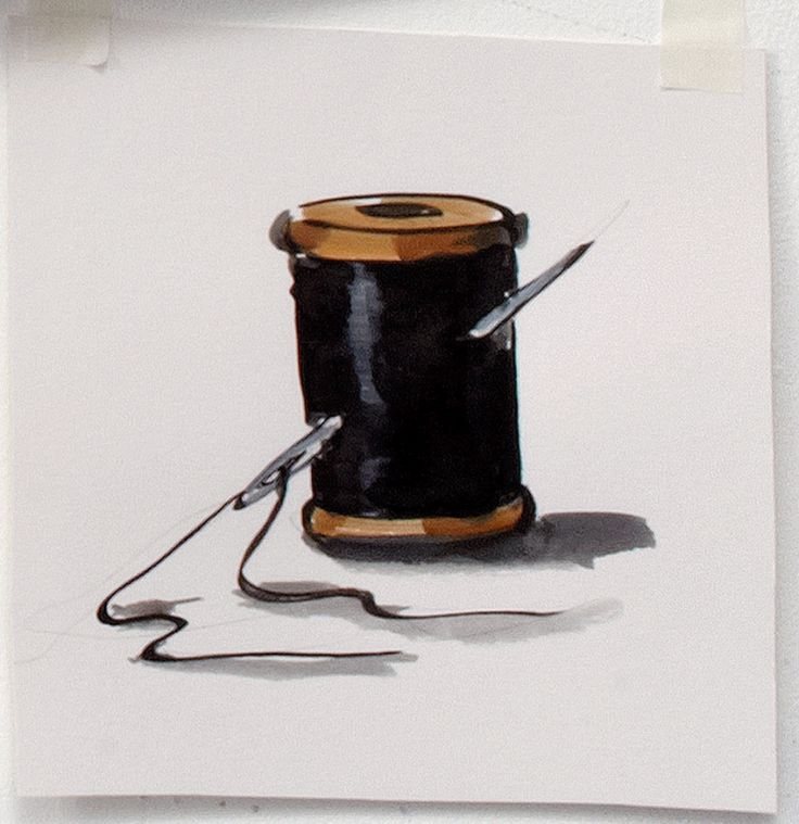 Spool of Black Thread and Needle by Lisa Milroy » Shop » Drawing Room