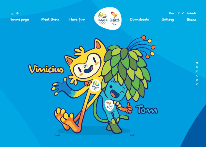 Rio 2016 Olympic Mascots   CSS Website