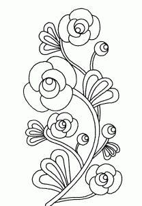 Flores para Colorir  ou usar para embordar