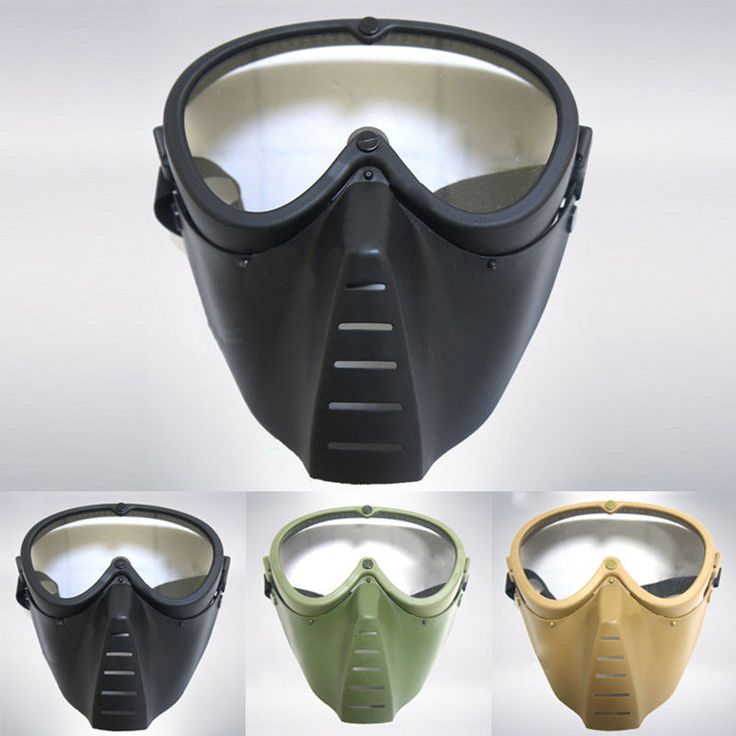 Outdoor Protective Tactical Helmet Airsoft Paintball Tactical Full Face Mask New | Sporting Goods, Outdoor Sports, Paintball | eBay!