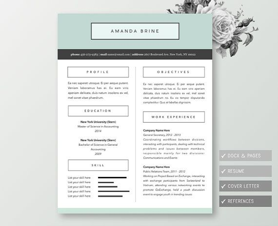 31 Best Resume Images On Pinterest | Resume Ideas, Resume Examples