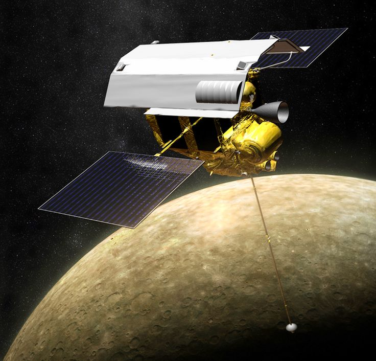 MESSENGER Completes Second Burn to Maintain Mercury Orbit by JASON MAJOR o9/22/14 Illustration of MESSENGER in orbit around Mercury (NASA/JPL/APL)