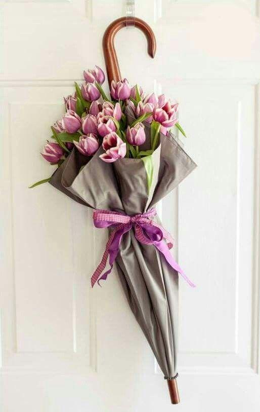 #flower-packaging #recycle-umbrella