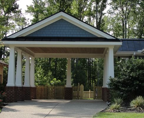 Wonderful Carport Ideas   Bing Images Update Carport With Brick/stone And Thicker  Pillars Or Change