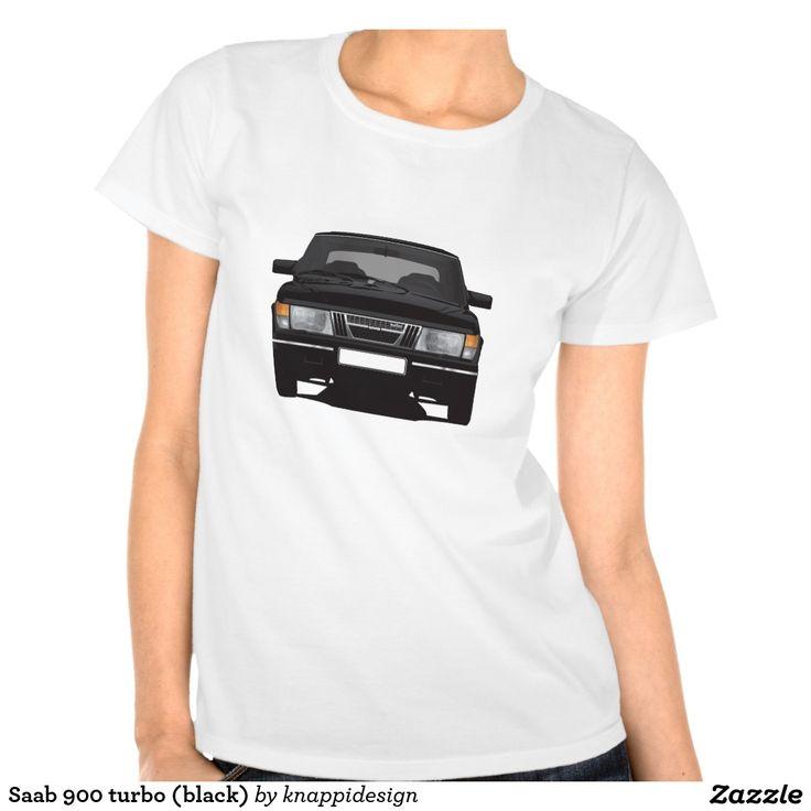 Saab 900 turbo (black) tshirt  #saab900 #sweden #sverige #svenska #swedish #bil #auto #car #troja #tshirt #paita #turbo