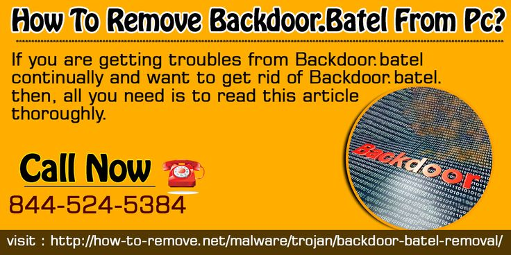This post is being written specifically for Computer users whose devices have been infected with Backdoor.Batel. They will come to know how to remove it from computer. And plus how they can tackle with its future attacks.