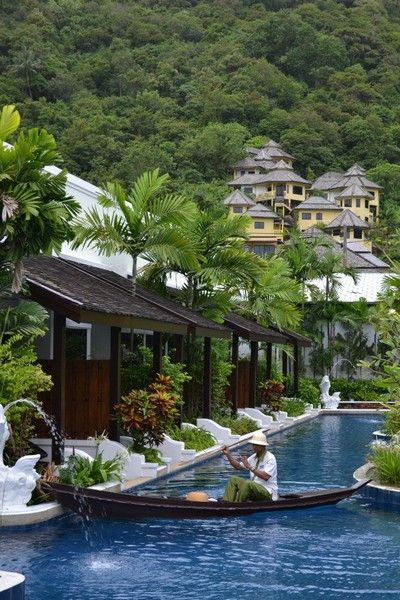 This is the hotel we are looking to stay at! room service from a boat! Phuket, Thailand