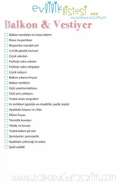 Çeyiz - Evlilik Listesi-Balköpüğü Blog   Alışveriş, Dekorasyon, Makyaj ve Moda Blogu