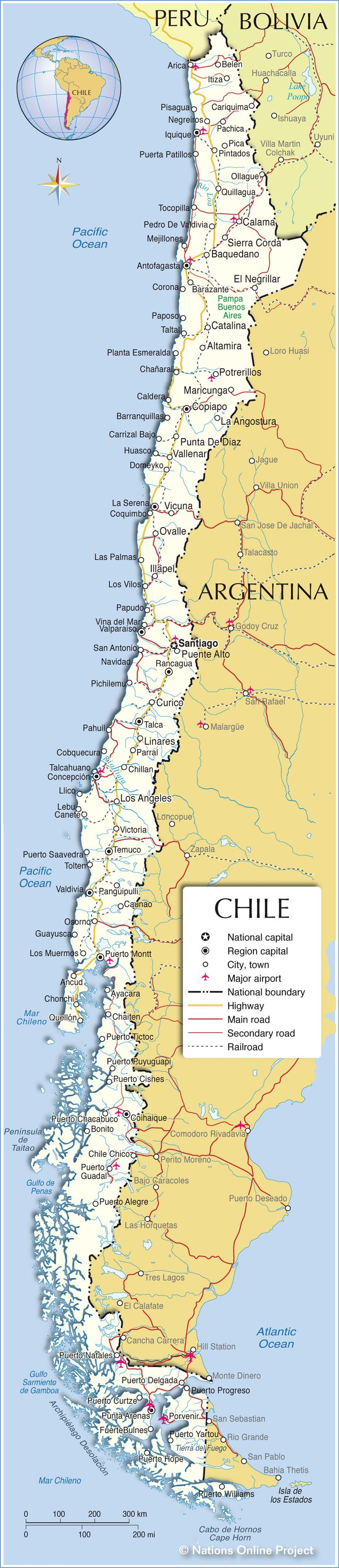 Political Map of Chile