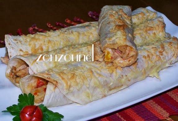 Olga's cuisine...και καλή σας όρεξη!!!: Αραβικές πίτες με κοτόπουλο και πιπεριές