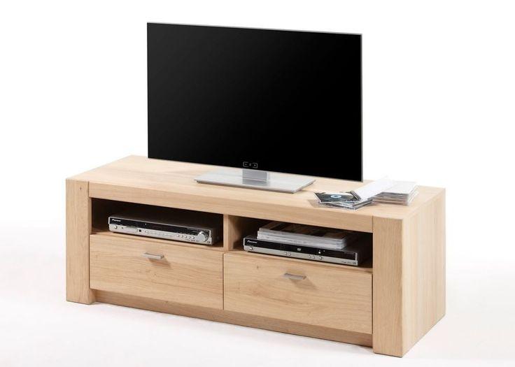 Lowboard Eiche Bianco Madeira TV-Schrank Holz Teilmassiv 9199. Buy now at http://www.moebel-wohnbar.de/lowboard-madeira-holz-eiche-bianco-9199