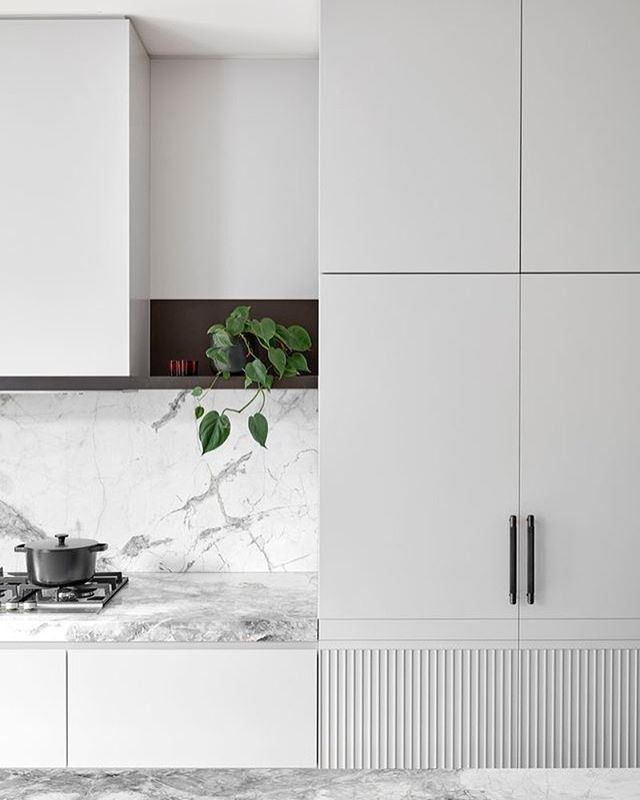 Kitchen crush : white marble